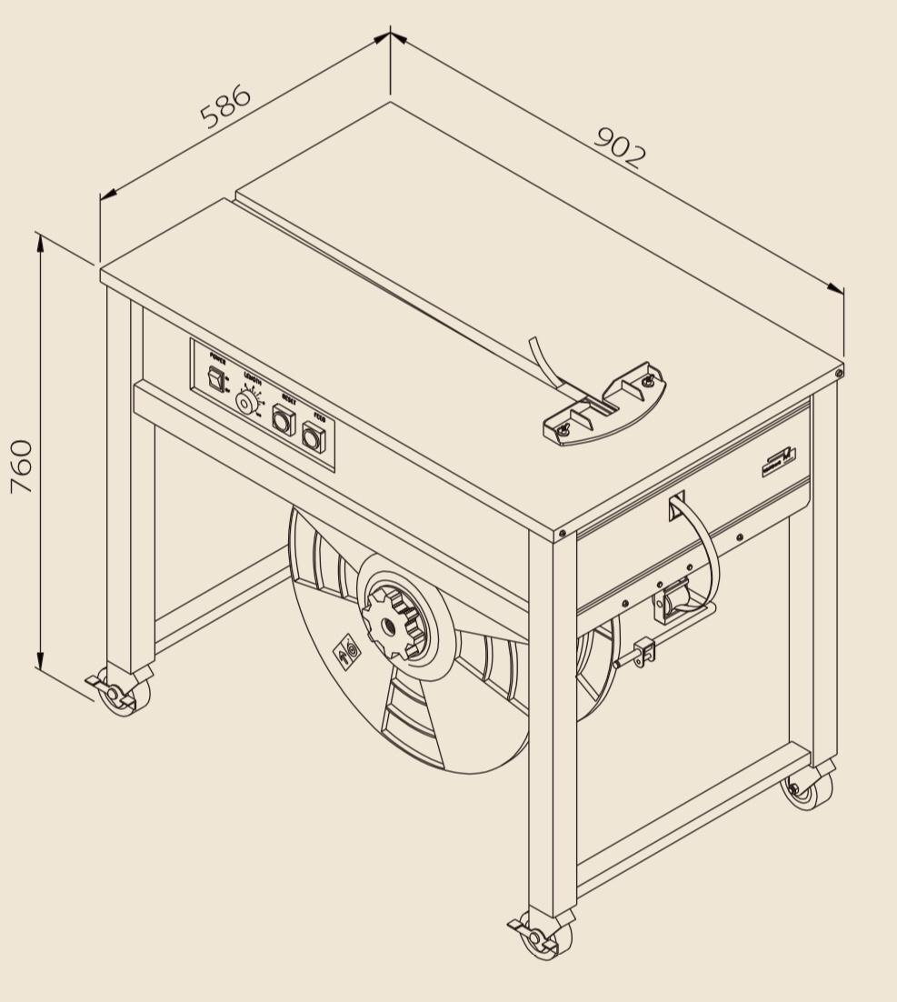 半自動梱包機TP-202技術データ